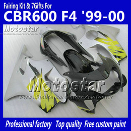 $enCountryForm.capitalKeyWord Canada - 7 Gifts fairings bodywork for HONDA CBR 600 CBR600 F4 CBR600F4 99 00 1999 2000 glossy silver black custom aftermarket fairing ag12