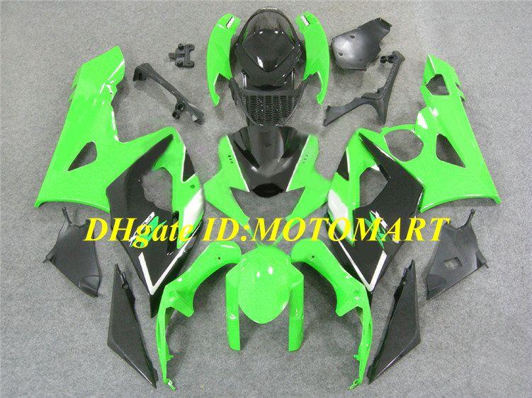 Kit carénage injection pour SUZUKI GSXR1000 2005 2006 GSX R1000 GSXR 1000 K5 05 06 vert noir kit carénage ABS + 7 ponts SD31