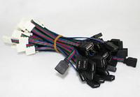 corte de tira de led al por mayor-4PIN RGB barra de luz de colores línea de conexión de la tarjeta de conexión de cable soldada extremos PCB Conector para 3528/5050 RGB led accessary en venta