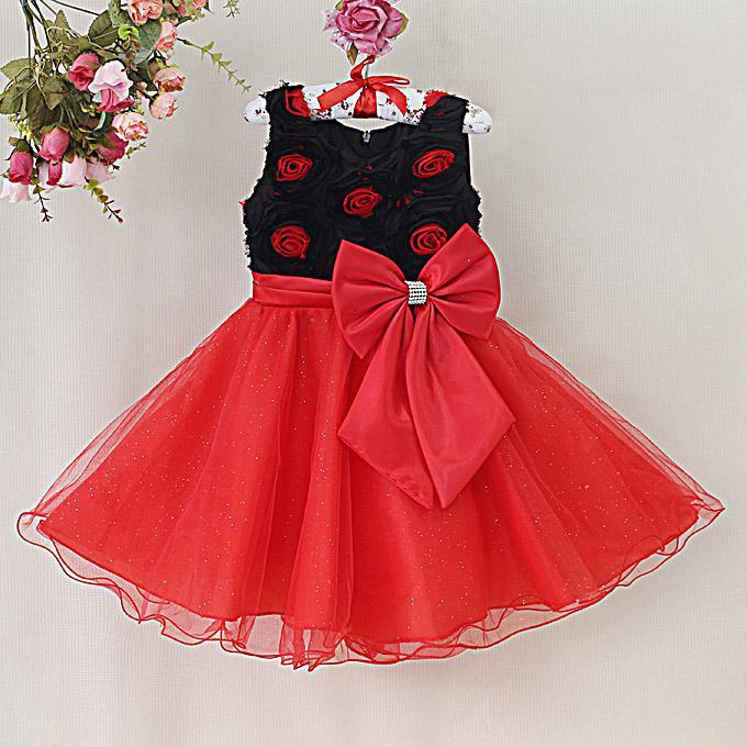 2014 New Kids Girl Formal Dress Rose Flower Dress for Children ...