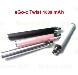 Wholesale Ego C Twists Joyetech - 20pcs Joyetech eGo-C Twist Variable Voltage 1000mAh battery E Cigarette