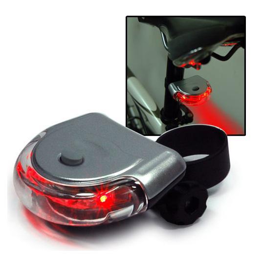 1 قطع الدراجة السلامة 5 الصمام UFO ضوء دراجة شعاع الذيل الخلفي ضوء وامض مصباح