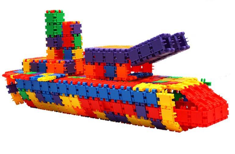 180 pcs/Lot Quadrate Plastic Building Blocks Building Sets Educational Toy  Children s Gift