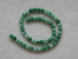 Wholesale Green Jade Loose - Brand New 8mm Green Jade Round Loose Beads 15.7inch Free Shipping