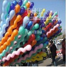 Wholesale Spiral Screw Balloon - party balloon 300pc Spiral Balloons Colorful Screw Balloon Wedding Birthday Party Christmas Kids toys Freeship O#95G