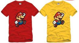 Wholesale Kids Brand Tshirt - free shipping high quality cheaper and popular summer kids t shirt children T-shirt super mario printed tshirt 6color 100% cotton