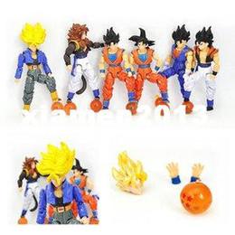 Wholesale Dragon Ball Z Figures Actions - Set of 6 Dragonball Z Dragon Ball DBZ Action Figures Toys TGZ001