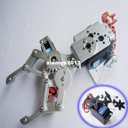 Wholesale F03992-A 2 DOF Aluminium Robot Arm Clamp Claw Mount kit + 2 HDKJ D3609 9KG Metal gear Digital servo for Arduino+Freeship