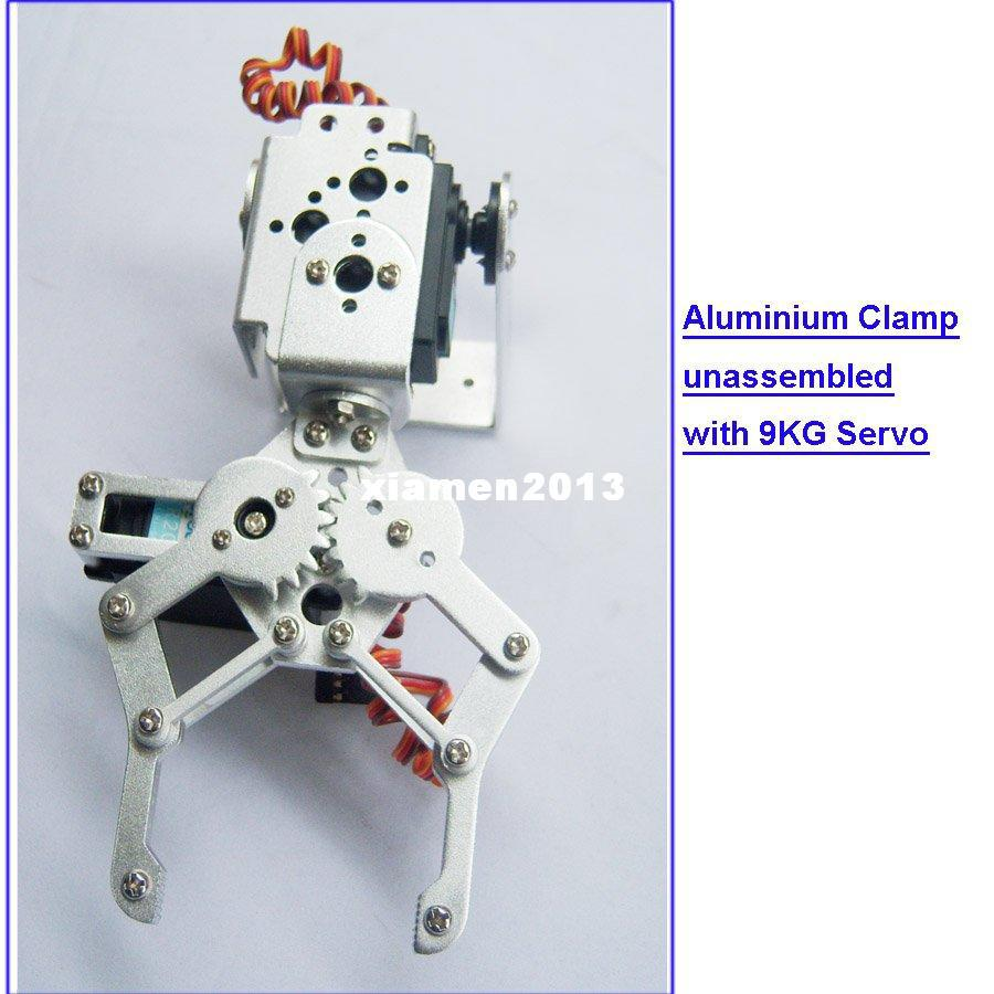 F03992-A 2 DOF Aluminium Robot Arm Klem Claw Mount Kit + 2 HDKJ D3609 9KG Metal Gear Digital Servo voor Arduino + Freeship