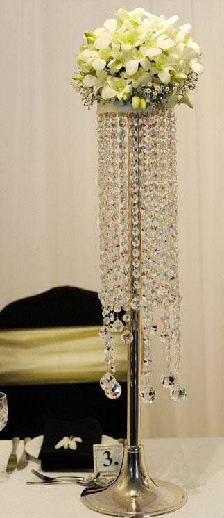 Piano tavolo lampadario di cristallo / lampadario da favola / centrotavola matrimonio / centrotavola / cristallo decorativo