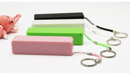 Wholesale Emergency Battery Mobile Phone - External Battery 2600mAh Emergency USB Perfume Power Bank Charger for Various phone Mobile 50pcs lot