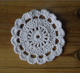 $enCountryForm.capitalKeyWord NZ - wholesale 100% cotton hand made crochet doily lace cup mat vase mat, coaster 8x8cm table mat customization 50PCS LOT