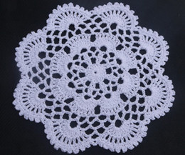 $enCountryForm.capitalKeyWord NZ - wholesale 100% cotton hand made crochet doily lace cup mat vase mat, coaster 16x16cm table mat customization 20PCS LOT