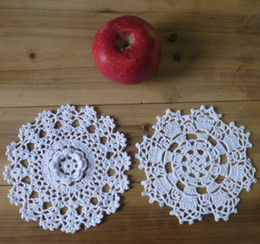 $enCountryForm.capitalKeyWord Canada - wholesale 100% hand made crochet doily table cloth ,2 designs 11 colors custom , cup mat round 14-15cm 20PCS LOT