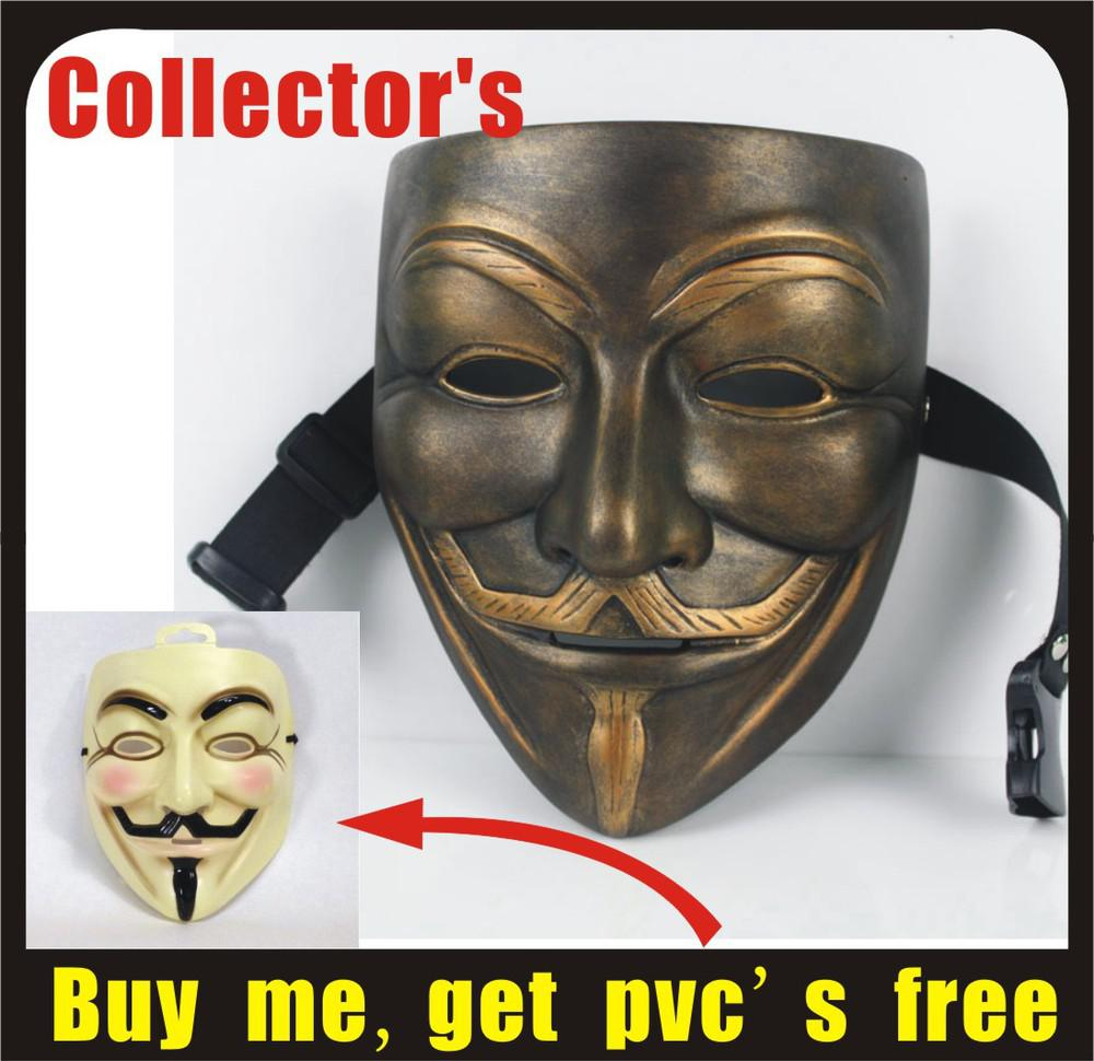 Resin Deluxe Guy Fawkes V For Vendetta Anonymous Collector's Mask ...