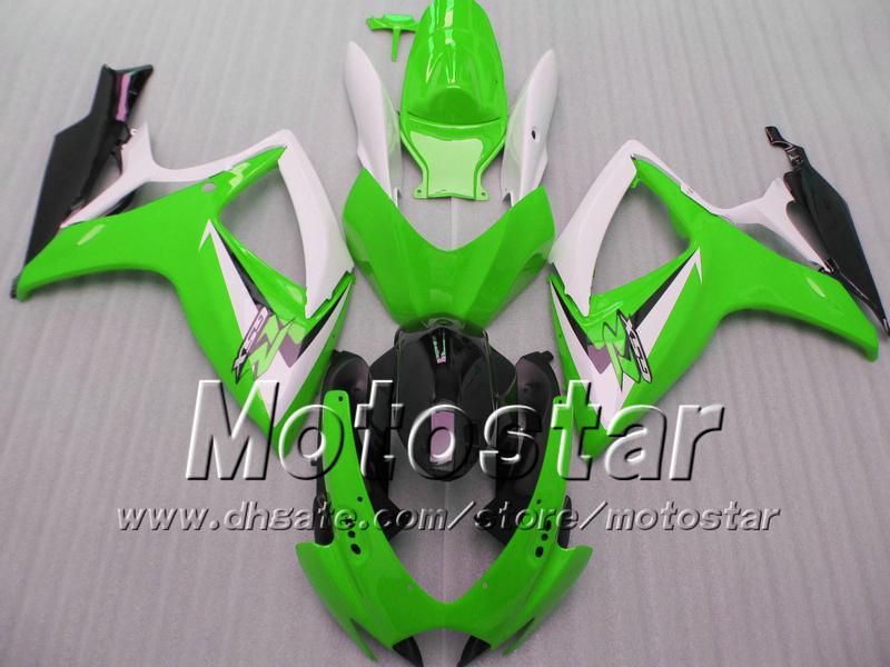 Carene iniezione SUZUKI 2006 2007 GSXR 600 750 K6 GSXR600 GSXR750 06 07 R600 R750 kit carene bianco verde nero WW4