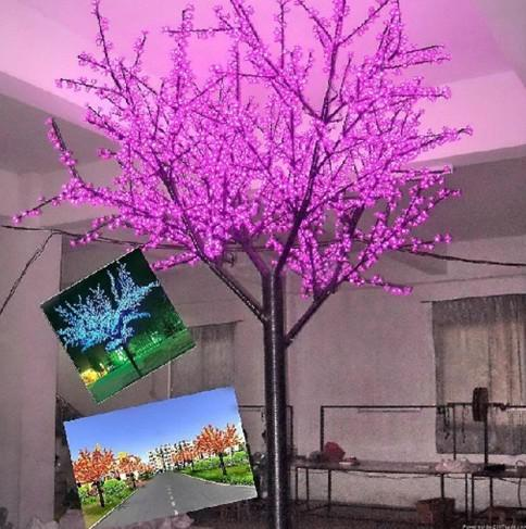 3.5m LED Lighted Trees Cherry Blossom Tree Light For Outdoor Decoration