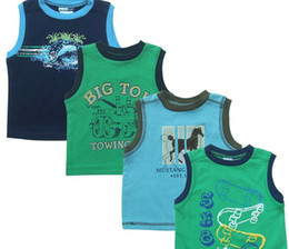 Wholesale Boys Singlets - Children's Tank Tops tshirts jersey boats jumpers baby t-shirts singlets blouses #2968