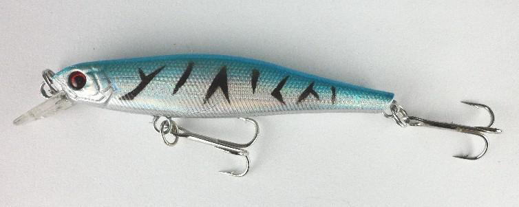 olhos 3D minnow / 8.5cm 6,5 g 6 # ganchos Minnow iscas de pesca rígido Bait dois ganchos frete grátis