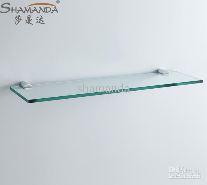 online cheap single bathroom shelfglass shelfbrass made baseglass shelf bathroom hardwarebathroom accessories 96024 by shamanda dhgatecom - Bathroom Glass Shelves