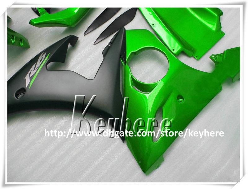 Kit de carénage en plastique ABS gratuit 7 cadeaux pour YAMAHA YZF R6 2005 YZFR6 05 carénages YZF600R carrosserie de moto noir vert haute qualité G5p