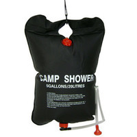 Wholesale solar water bag shower resale online - 20L Gallon Camp Shower Water Bags Super Solar Shower Camping Shower Solar Bathing bag