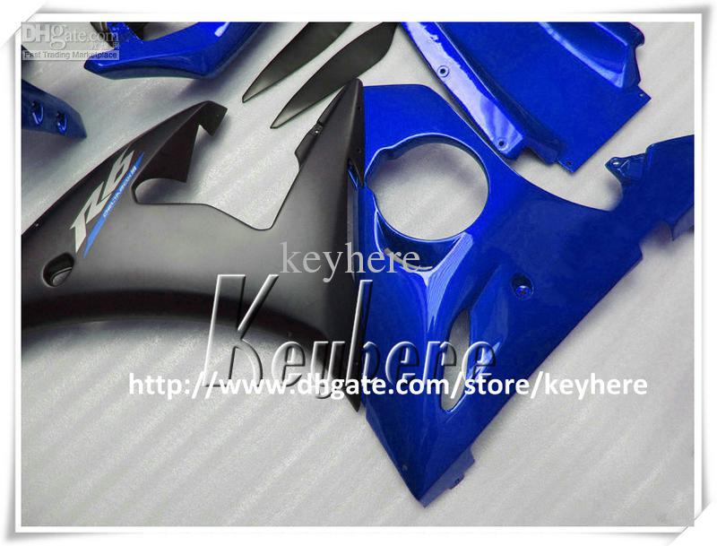 Livre 7 presentes kit de carenagem de plástico Personalizado para YAMAHA YZFR6 2005 YZF R6 YZF-R6 YZF600R 05 carenagens G9o venda quente azul preto corpo da motocicleta kit
