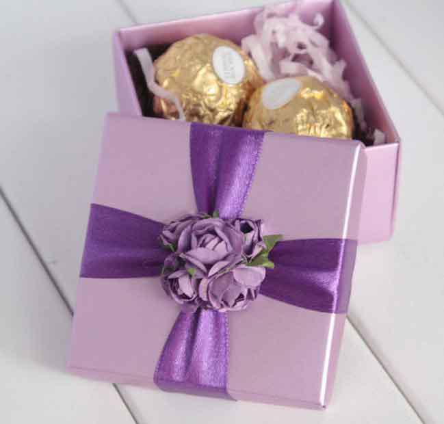 Euro Style Diy Creative Wedding Box Wedding Favor Box Square Romantic Purple Candy Box Party Favor Boxes For Weddings Personalized Favor Box From Service ... & Hotsale! Euro Style Diy Creative Wedding Box Wedding Favor Box ... Aboutintivar.Com