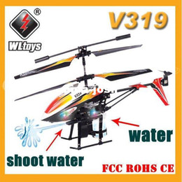 Wholesale Infrared Helicopter - Free Shipping 3.5CH Fountain Shoot Bladez Water Blaster WL V319 RC Helicopter Gyro Infrared Control