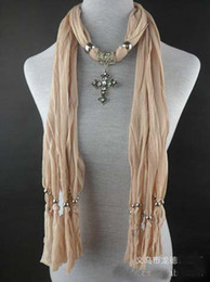 Wholesale Wholesale Longhorns - Best price Scarves With Longhorn Pendant Crystal Jewelry Lady Fashionable Scarve 20pcs