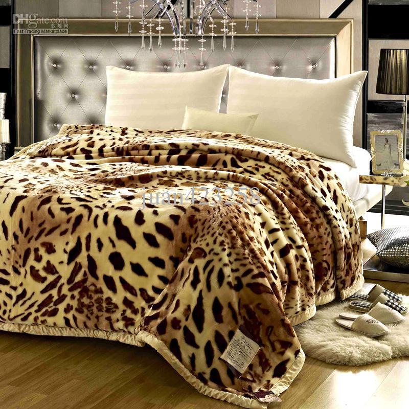 New Raschel Blanket Home Textile Double Layer Thick