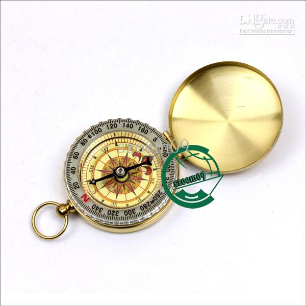 Outdoor Travelling Classic Bronzing Watch Style Ring KeyChain W/Navigation Pocket Round Compass
