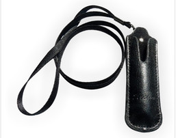 Wholesale Ego T Lanyard Bag - The newest 20pcs lot E Cigarette Accessories Leather eGo Case Cortical Neck lanyard Bag for eGo-T eGo-W eGo-F