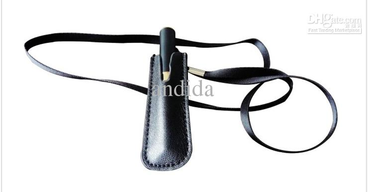 The newest E Cigarette Accessories Leather eGo Case Cortical Neck lanyard Bag for eGo-T eGo-W eGo-F