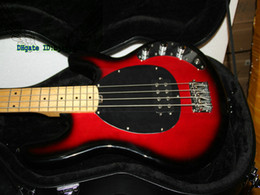 Wholesale Sunburst Bass - Black Cherry 4 Strings MUSIC MAN Electric Bass with Hardcase Best High Quality OEM Available