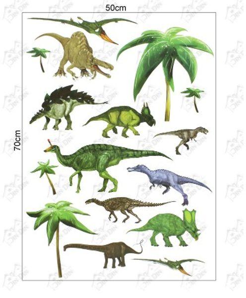 2015 мода поп несколько динозавров наклейки стикер стены Home Decor Room дети дети