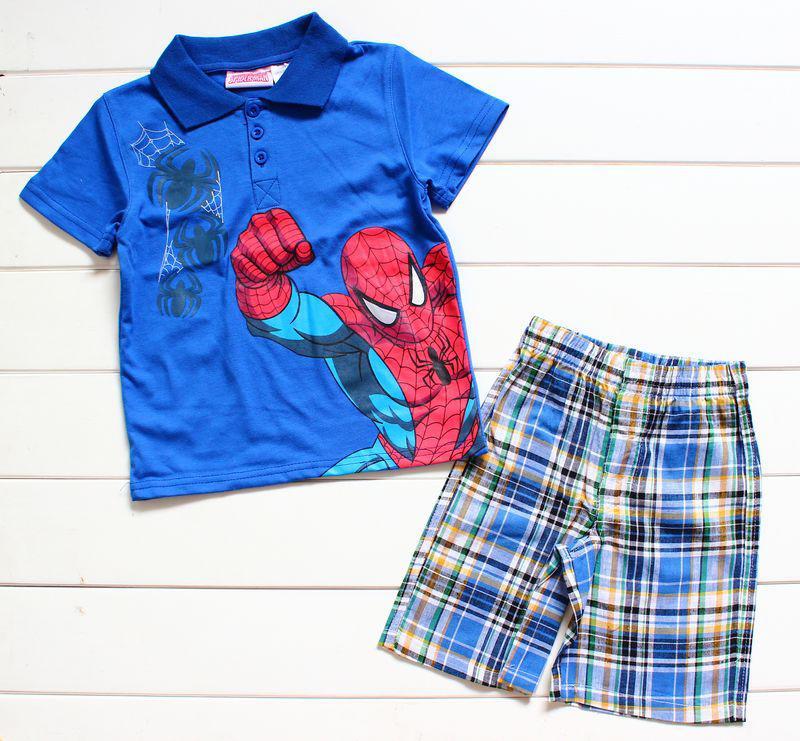 2017 Kids Clothing Boys Summer Wear Spiderman Short Sleeve T ...