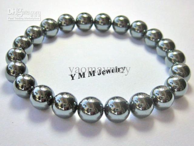 Braccialetti con perline in ematite nera 8mm del braccialetto delle donne elastico all'ingrosso