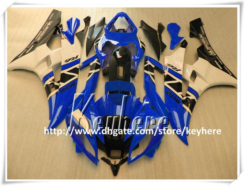 7 regali personalizzati Kit carena da gara YAMAHA YZFR6 2006 2007 YZF R6 YZF600R 06 07 carene g2p nuovo blu nero bianco carrozzeria moto