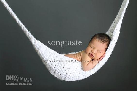 Crochet Newborn Baby Hammock Sleeping Bag Toddler Pod