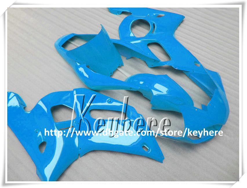 Kit de carénage 7 cadeaux gratuit pour YAMAHA YZF R6 1998 1999 2000 2001 2002 YZF600R YZFR6 98 99 00 01 02 carénage G4s toutes les pièces de moto de corps bleu