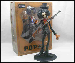 Wholesale Brook Figure - NEW - One Piece Portrait of Pirates Brooke Brook POP Figure MEGAHOUSE STRONG WORLD Figure Toy - Free Shipping