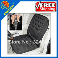 Wholesale Seat Heat Pad - EASTSUN Hot selling! FREE SHIPPING 12v winter heating AUTO car seat cushion Black Smooth  Plush lepoard stripe pad