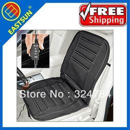 Wholesale Car Seat Cushions Plush - EASTSUN Hot selling! FREE SHIPPING 12v winter heating AUTO car seat cushion Black Smooth  Plush lepoard stripe pad