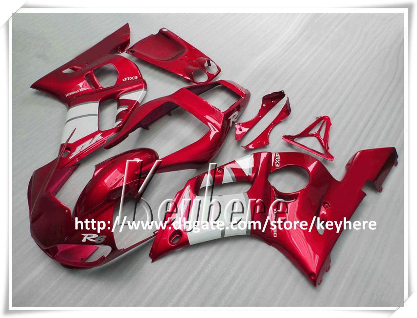 Kit de carenado para 7 regalos gratis para YAMAHA YZFR6 1998 1999 2000 2001 2002 YZF-R6 YZF600R 98 99 00 01 02 Carenados YZF-R6 Kit de cuerpo blanco rojo vino G9v
