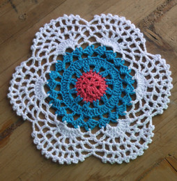 $enCountryForm.capitalKeyWord NZ - wholesale 100% cotton hand made crochet doily, lace cup mat vase mat, coaster 15x15cm table mat customization 20PCS LOT tm022
