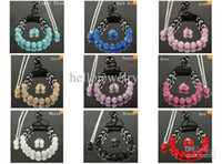 Vente en gros - Mix colors 10mm crystal clay disco ball shamballa collier bracelet boucles d'oreille set cheap gift