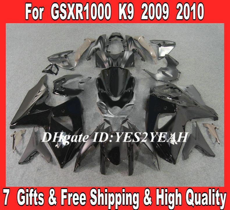 Les carénages d'injection sont prêts pour 2009 2010 SUZUKI GSXR1000 GSX R1000 K9 09 10 GSXR 1000 R1000 noir carénage + cadeaux SF11