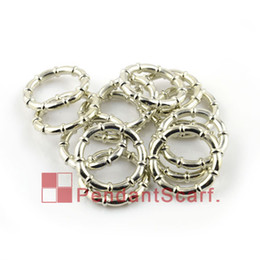 Chinese  50PCS LOT, Top Fashion DIY Jewellery Scarf Pendant Accessories Shine Silver Plated Plastic CCB Bamboo Shape Rings, Free Shipping, AC0059A manufacturers