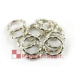 Ccb sciarpa anelli online-50PCS / LOT, Top Fashion Gioielli fai da te accessori ciondolo sciarpa brillare argento placcato in plastica di bambù forma anelli, trasporto libero, AC0059A